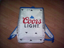 Coors Light Insulated Soft Cooler Beer Backpack Bag Silver 24 Cans Brand New!