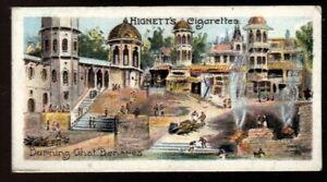 Tobacco Card, Hignett, INTERESTING BUILDINGS, 1905, Burning Ghat Benares, #49