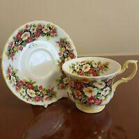 Vintage Royal Albert Fragrance Series PRIMULA Tea Cup and Saucer Set Floral