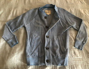Cherokee Boys Blue Cardigan Button Up Sweater (Size XS (4/5))