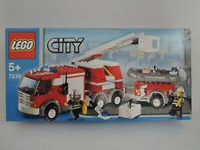 LEGO City 7239 - Feuerwehrlöschzug   kpl. + Anleitung  + Figuren + OVP