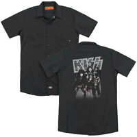 KISS SHINE Licensed Adult Men's Dickies Graphic Band Work Shirt SM-3XL