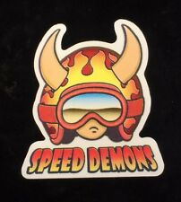 1 speed demon skateboard Sticker Fireman Big Head 1997 World Industries