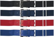 Elastic Adjustable Genuine Leather Belt Tab Baseball Softball Sport Buckle Belt