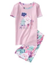 NWT Gymboree Jump into Summer Girls We're Not Afraid Of Monsters Pjs Size 8