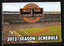 2012 Baltimore Orioles Schedule--Sarasota