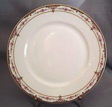 Theodore Haviland Dinner Plate(s) - Pink Rose/Scroll Border S618