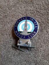 More details for vintage car badge burnham on sea enamel rare