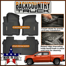 BackCountryTruck Floor Mats Liners 2019 NEW BODY Chevy Silverado 1500 Crew Cab