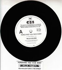 "WILLIE NELSON Forgiving You Was Easy 7"" 45 rpm record + juke box title strip NEW"