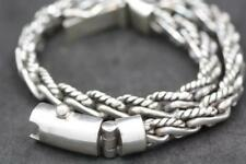 Handmade Solid Sterling Silver .925 Bali Single Weave w Accents 6 mm Bracelet.