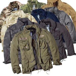 Brandit M65 Giant Herren Jacke Vintage Feldjacke Army Outdoor Parka Futter S-7XL
