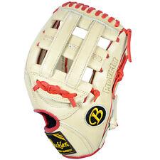 "Pro Victor Buckler Baseball, PV1175IR 11.75"" RHT Infield Glove Ivory/Red"