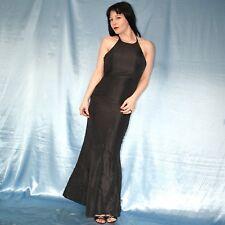 Gothic Black Satin Cocktail Dress XS 34 Evening Party Dress Prom Dress