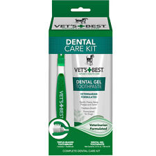 Vet's Best enzymatic Dental Care Kit for Dogs-GEL + Brush