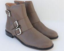 NEW CORSO COMO Irvington Double Monk Strap Booties Taupe Leather 8 Moto Style
