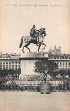 LYON - Place Bellecour - Statue équestre de Louis XIV (1825)