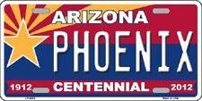Arizona Centennial Phoenix Novelty Metal License Plate