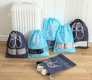 2 PCS Boot Shoe Storage Drawstring Bag Travel Organizer Gym Carry Dustproof Case