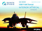 Quinta QD48048 1/48 F-14A 3D-Printed  coloured interior for Tamiya kit