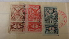 1904 Mexico Oficina Del Gobierno Tax / Revenue Stamps on Sale Contract 5C,2C,1C