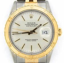 Rolex Datejust Thunderbird Turn-O-Graph Mens 2Tone 18k Gold & Steel Silver 16253