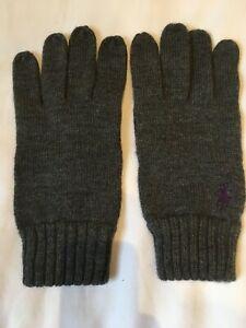 Ralph Lauren Wool Gloves One Size Grey