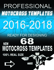68 MX motocross templates 2016 - 2018. Ready for designing.