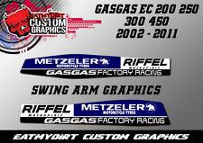 Para GASGAS EC 2002-2011 completo del brazo del oscilación Gráficos Pegatinas Calcomanías De Motocross MX