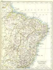 Eastern brésil. bahia minas gerais pernambuco marabhao. johnston 1899 old map