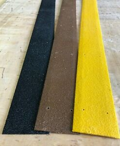 Anti Slip GRP Strips for slippery decking and ramps. 90mm wide. Free screws