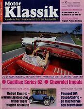 Motor Klassik 10/92 1992 Impala Convertible Cadillac Series 62 Peugeot 504 Coupé