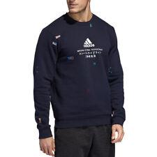 Adidas Men's Global Citizens Crew Legend Ink Sweatshirt ED8322 NEW!