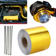 Heat Shield Wrap Tape Auto Exhaust Pipe Adhesive Reflective Aluminum Foil Gold