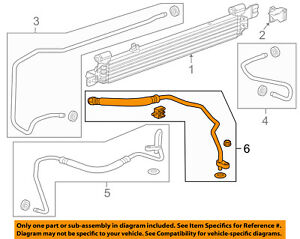 Chevrolet GM OEM 14-18 Impala 3.6L Transmission Oil Cooler-Outlet hose 23171463
