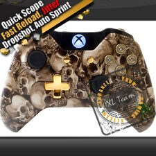 SKULLS XBOX ONE MODDED RAPID FIRE CONTROLLER COD AW BLACK OPS 3 BF4 1000+COMBO