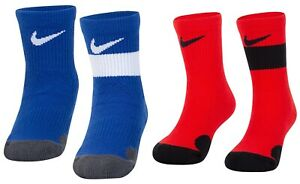 New Jordan Nike Little Boys 2-Pack Elite Crew Socks Choose Color MSRP $18.00