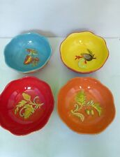 Plow & Hearth Cypress Home Harvest Blessings Hand Painted Ceramic Bowl(s) Lot 4
