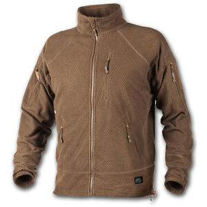 HELIKON TEX ALPHA TACTICAL GRID FLEECE RECON ARMY COLD WEATHER COYOTE BROWN