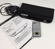 Rocketfish 4-Port HDMI Switch Box Switcher Remote Manual RF-HDMI4 Tested Working
