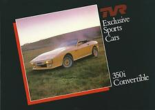 TVR 350i Convertible UK Market Fold Out Glossy Brochure 1985-87 Incl Car Specs