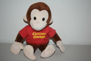 Applause Curious George Plush Bean Bag Stuffed Toy 10 Inches Monkey Red Shirt