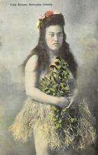 Hula Dancer, Hawaiian Islands, TH Hawaiian Woman c1910s Vintage Postcard