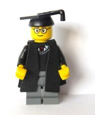Genuine Lego hombre chico estudiante de posgrado graduación Minifigura Gafas University