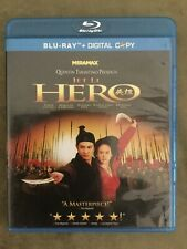 Hero (Blu-ray Disc, 2009, 2 Disc Set) Rare Oop Jet Li, Quentin Tarantino