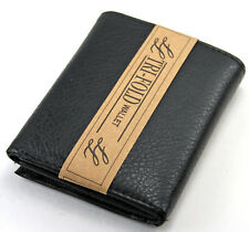 New Mens Trifold Grain Leather Wallet Billfold Credit Card Window ID Holder Case