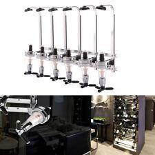 6 Bottle Stand Wall Mounted Dispenser Nice Drinks Wine Spirit Steel Bar Optics