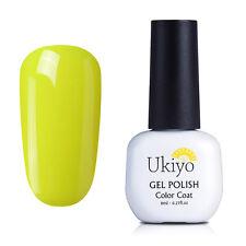 Ukiyo 8ML Soak Off UV Gel UV Gel Polish Top Base Coat Nail Art   750