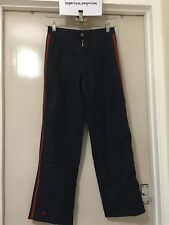 Women's Adidas Retro 3...D-91074 Joggers Pants Trousers Navy/Red Size W26
