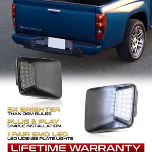04-12 Chevy Colorado/GMC Canyon SMD LED Rear Bumper license Plate Light Lamp SET